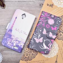 For Alcatel One Touch Pop C5 5036 OT5036 5036D Wallet PU Leather Phone Bag Cover Carton Pattern Flip Case With Stand Fuction