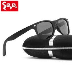 SAYLAYO Новая роскошная матовая черная оправа поляризованные солнцезащитные очки мужские и женские UV400 уличные классические солнцезащитные о...