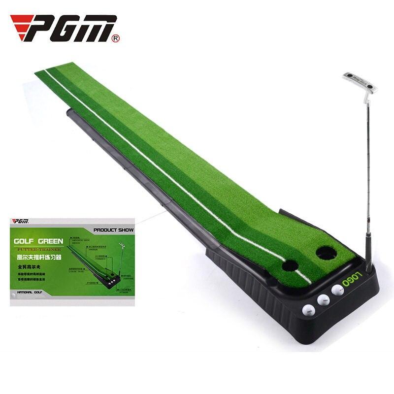 PGM indoor Golf Putter Practice Set Putting Green Trainer Green Mat Automatic Return Fairways Equipment Golf Training Aids (1)