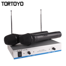 Professional HIFI Wireless Handheld Microphone Karaoke Show Home KTV Conference Microphones Megaphone+Receiver for PC TV Speaker