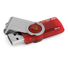 Original Kingston USB Flash Drive 8GB DT101G2 PenDrives USB 2.0 Pen Drives Memory Stick Plastic Mental Swivel