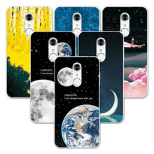 FOR ZTE Blade A910 A 910 Soft Silicone Couple Style Phone Case Space Stars Fantasy Art Print For Zte Blade A910 Back Cover(China)