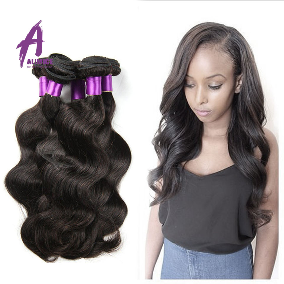 Unprocessed Brazilian Virgin Hair Body Wave 4Bundles Remy Human Hair Extension 8~30 Inches Brazilian Remy Hair Wavy Body Wave<br><br>Aliexpress