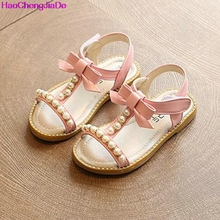 HaoChengJiaDe Kids Sandals Girls Shoes New Summer Bowknot Fashion Princess Girls Sandals Children Diamond Sandals For Girls 086