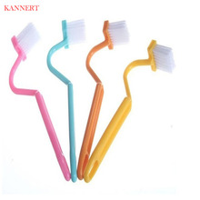 KANNERT Family Sanitary S-type Toilet Cleaning Brush Curved Bent Handle Brush Scrubber Home Bath Cleaner Tools(China)