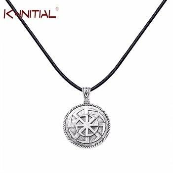 Kinitial Kolovrat Slavic Pendant Russian Sun Talisman Round Power Antique Slavic Amulet Necklace Pendants Jewelry Many Styles