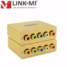 LINK-MI LM-COVSAB 1080P Via 152m CAT5E/6 Cable RGB Video Component Video/Stereo Audio Balun YPbpr RGB video Extender 2000ft(China)