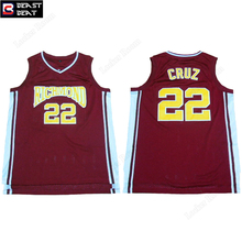 Beast Beat Richmond #22 Cruz Basketball Jerseys Throwback Red Breathable Wholesale Sports Workout Jerseys Free Shipping(China)