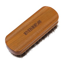 Horsehair Shoe Brush Polish Natural Leather Real Horse Hair Soft Polishing Tool Bootpolish MA879111(China)