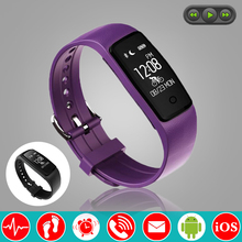 Fashion Swim Music Control Smart Wristband Band Heart Rate Monitor Pedometer Trajectory Fitness Bracelet Tracker PK fitbits