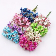 10pcs mini pearl berry man-made stamens bouquet wedding home decoration flowers DIY wreaths clip art process fake flowers(China)