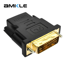 Amkle HDMI to DVI Adapter Converter HDMI Female to DVI 24+1 Pin Male 1080P HDTV Video Converter for PC PS3 Projector TV Box(China)