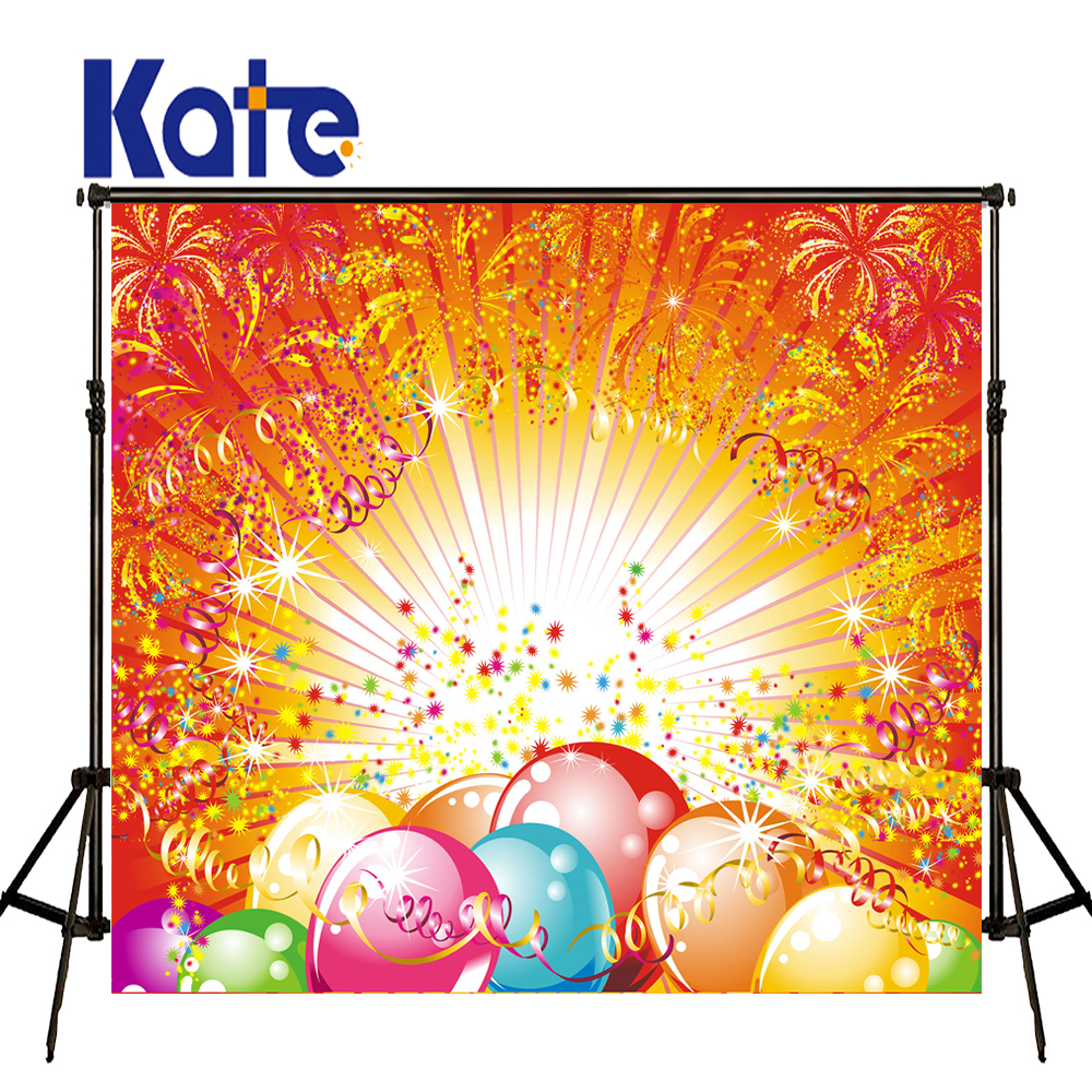 Kate Celebrate Backdrops Photography Colour Firework Tape Fundo Para Fotos Balloon Photocall Backgrounds For Photo Studio J02177<br>