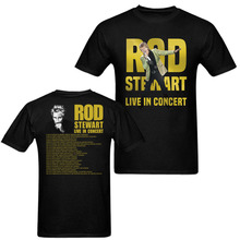 ROD STEWART LIVE IN CONCERT TOUR 2018 T-Shirt Men and Women Tee Big Size S-XXXL printing(China)