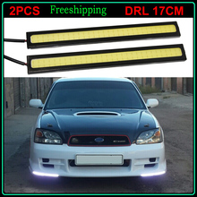 2Pcs White/Blue/Yellow/Red Ultra Bright LED Daytime Running lights 12V 17cm Waterproof Car DRL COB Driving Fog lamp car styling