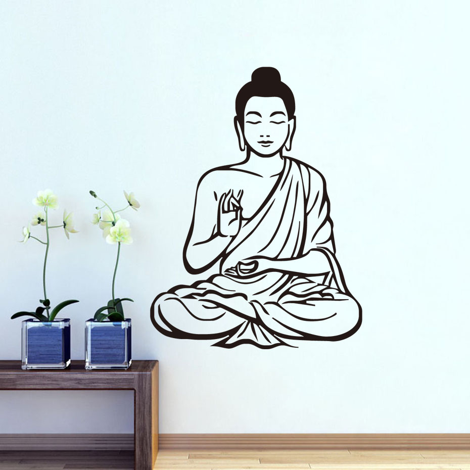 DCTOP Shakya Muni Buddha Buddhism Religion Wall Sticker Home Decor Living Room Bedroom Decor Decals Home Decoration Accessories(China (Mainland))