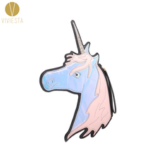 UNICORN NOVELTY CLUTCH BAG - Women's Girls' Fashion Cute Dolly Lolita Bling Shiny Dazzling Cartoon Wristlet Clutch Bag Handbag