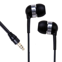 Marsnaska 2017 Brand New Wholesale 3.5mm Mini In-Ear Earpiece Ear buds Earphone for iPhone 5 MP3 Player iPod Black(China)