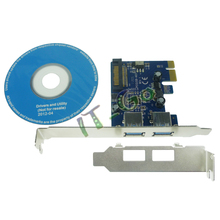 2 ports USB 3.0 PCI express Card PCIe with low profile bracket 720202 Chip Super Speed 5Gbps--Free shipping(China)