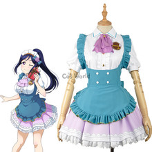 LoveLive!Sunshine!! Matsuura kanan Valentine's day Maid Apron Dress Uniform Outfit Anime Cosplay Costumes(China)