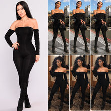 Hirigin Romper Bodysuit Womens Queda 2018 Fora Do Ombro Clubwear Playsuit Bodycon Partido Jumpsuit Romper Calças Sexy Macacão(China)
