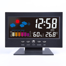 Car LCD Screen Calendar Digital Clock Thermometer Weather Forecast