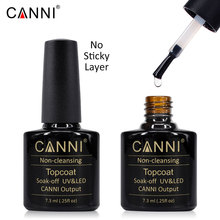 #40601 CANNI 7.3ML UV/LED No Sticky Topcoat ,No Wipe Topcoat Gel Polish, Non cleansing top coat