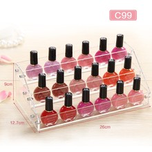 Cosmetic Storage Rack Acrylic Organizer Desktop Nail Polish Organizer Crystal Makeup Display Holder Case for Bedroom