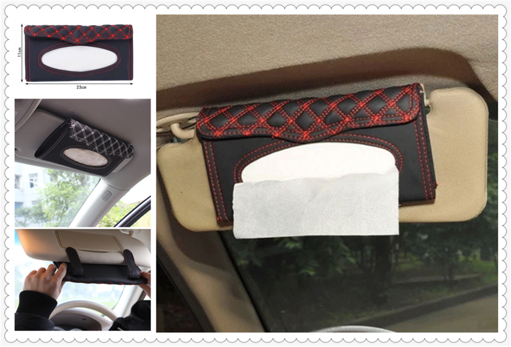 Car interior sun visor tissue box supplies clipboard paper towel rack for BMW EfficientDynamics 335d M1 M-Zero 545i 530xi