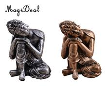 MagiDeal Resting Figurine The Hue Resin Meditation Buddha Statue Sculpture-Home Decor Gift