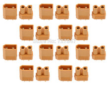 10 pairs Hot selling Yellow XT30 XT60 XT90 High Quality Male Female Gold-plated Battery connector plug for RC aircraft