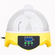 High Quality 7PCS Eggs Automatic Poultry Mini Incubator Temperature Control Poultry Bird Pet Hatcher Chicken Incubator Machine(China)