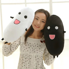 Cute White/Black Rice Plush Toys Large size 45-90cm Lovely Plush Rice cloth doll birthday present For Children's day kids toys