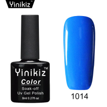 Yinikiz 1pcs 8ml Glitter Colorful Uv Gel Nail Polish Soak Off Esmalte Nail Varnish Top Base Coat Long Lasting Gel Lacquer