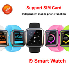 MTK2502C Bluetooth Smart Watch i9 Support TF SIM Card Phone Clock GSM Video Camera Music Smartwatch For Android IOS Phone(China)
