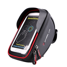 Buy Bicycle Bike Cycling Front Frame Tube Handlebar Bag Waterproof 6in Mobile Phone for $17.38 in AliExpress store