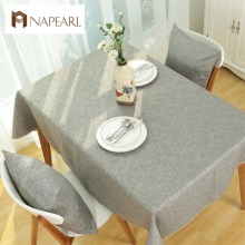 Solid color Green Linen Table Cloth Fashion Pastoral Style Cafe kitchen dining room Tables Cover(China)
