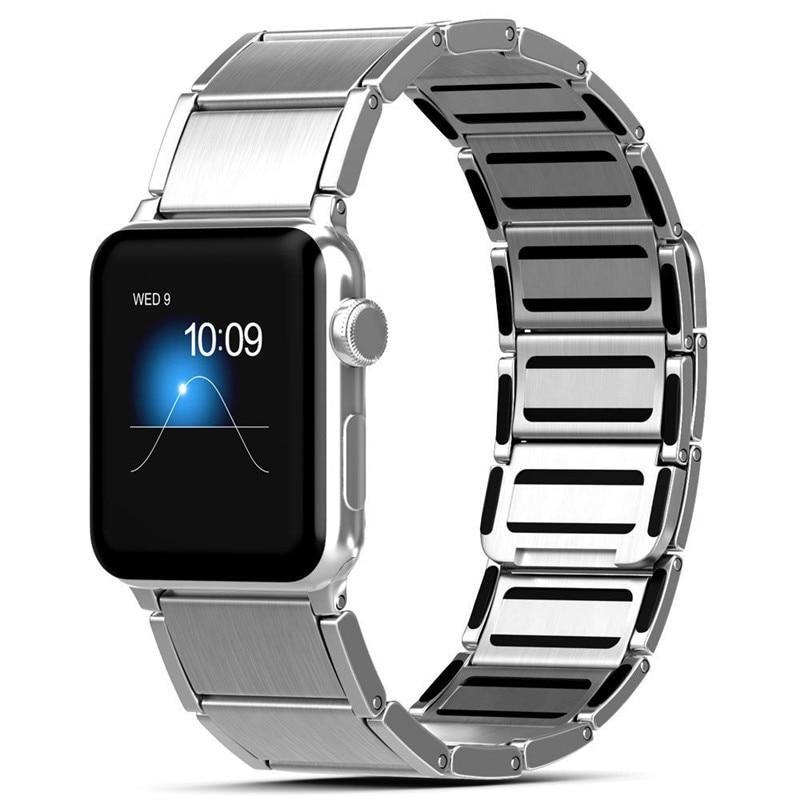 Luxury stainless steel watch band for apple series 1 2 3 watch strap 38-42 mm reloj hombre marca de lujo heren horlogewatcha bracelet (8)