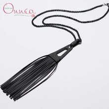 Onnea Fashion Jewelry Long  Pendant Tassel Necklaces  Key Lock Feather  Brand Leather Necklace Jewelry For Women bijoux femme