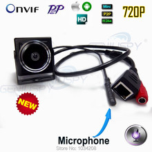 Onvif 720P Mini Camera Mini IP Camera Audio Home Security Pinhole Camera IP Camera P2P Plug And Play For 1.78mm Fisheye Lens