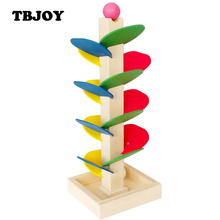1 Set Baby Montessori Educational Toy Block Wooden Tree Marble Ball Run Track Games Kids Toys for Children Intelligence Kit Gift