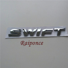 Car SWIFT Emblem For Suzuki Swift ABS Plastic 3D Letter Nameplate Sticker Auto Chrome Tail Badge