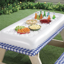 Inflatable Serving Bar Cooler Buffet Salad Food & Drink Tray For Party / Picnic