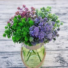 1 bundle cheap artificial flowers for Home wedding plant wall landscape vases for decoration fake plastic flower silk plant(China)