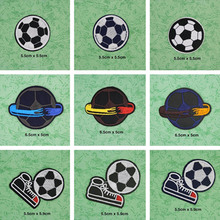 Cool Football Patches Cap Shoe Iron On Embroidered Appliques DIY Apparel Accessories Patch For Clothing Fabric Badges BU103