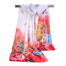 Fashion Women Animal Pattern Poncho Scarves Lady Butterfly Designer Bandanas Flowery Winter Party Gift Stole Cape(China)