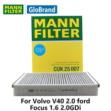 MANN FILTER Car Cabin Filter For Volvo V40 2.0 Ford Focus 1.6 2.0GDi Activated Carbon CUK25007