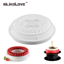 Bakeware & Tools Baking Pastry Mould Circular Thread Design Silicone Cake Mold(China)