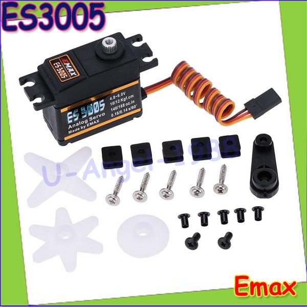 4set/lot EMAX ES3005 Analog Metal Waterproof Servo with Gears 43g servo 13KG torque for RC car boat airplane Wholesale<br><br>Aliexpress