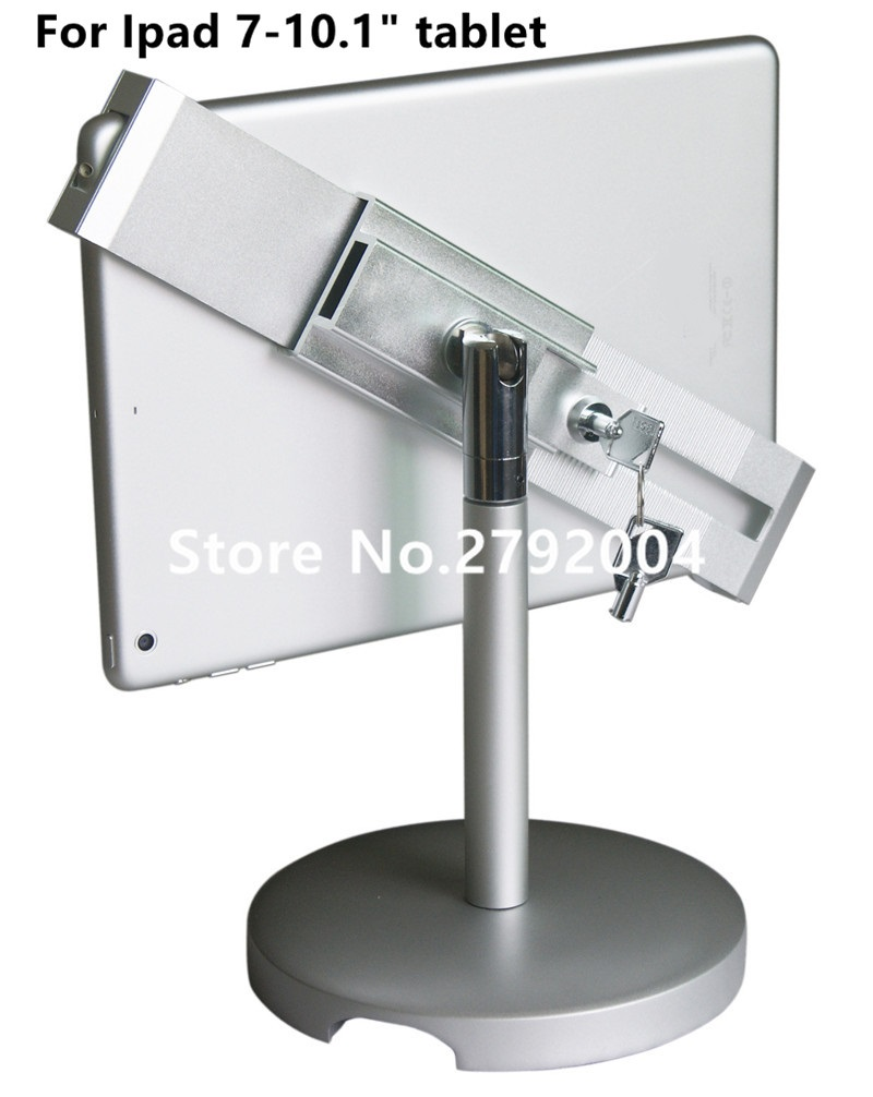 7-10.1 tablet security holder with lock housing display on restaurant menu ordering for Nexus 9 inch<br>